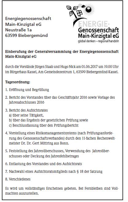 Energiegenossenschaft Main-Kinzigtal eG - Presse
